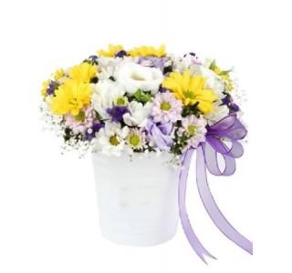 Seramikte Kır Çiçekleri